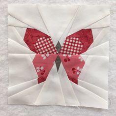 A bonus butterfly charm block for the Splendid Sampler quilt