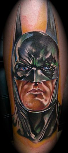 #4 Batman - Top 15 Superhero Tattoos: http://www.tattoos.net/articles/tattoos/top-superhero-and-comic-book-tattoos/
