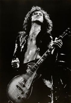 Led Zeppelin Jimmy Page looking like a badass