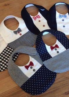 ◆ Handmade_Formal_Bow tie_Sty Set ◆ ◆ H Baby Sewing Projects, Sewing For Kids, Sewing Hacks, Baby Sewing Tutorials, Baby Bibs Patterns, Bib Pattern, Baby Crafts, Handmade Baby, Baby Accessories