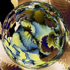 Title:  In The Year 2525   Artist:  Elizabeth McTaggart   Medium:  Digital Art - Fractal Art And Digital Collage