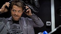 Misha behind scenes scoobynatural