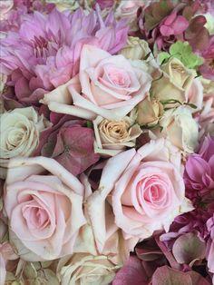 Wedding bouquet Pink, blush and cream