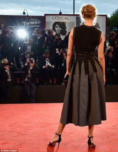 She does it well: The Hollywood star certainly knows how to walk a red carper...