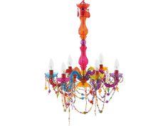 Kronleuchter Gypsy bunt 6-armig Hängeleuchte Gypsi Lüster Deckenlampe SY100770 in Möbel & Wohnen, Beleuchtung, Deckenlampen & Kronleuchter   eBay
