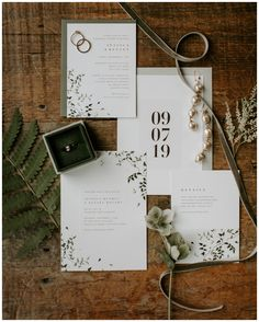 Rustic and modern wedding invitation suite. Photography by Scarlet Roots. Edgy Wedding, Wedding Prep, Wedding Planning, Spring Wedding Invitations, Wedding Invitation Design, Wedding Stationery, Rustic Wedding Inspiration, Flat Lay, Wedding Details