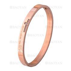 pulsera brillante en acero rosado inoxidable -SSBTG1225539