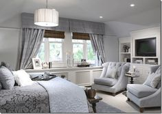 Candice Olsen: Gray bedroom