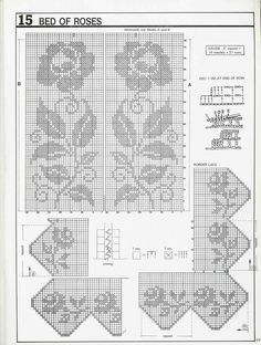 "Photo from album ""Decorative crochet"" on Yandex. Crochet Yoke, Filet Crochet Charts, Crochet Lace Edging, Crochet Bedspread, Crochet Tablecloth, Crochet Art, Crochet Diagram, Crochet Crafts, Crochet Doilies"
