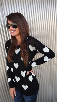 Hearts All Over Sweater | The Rage
