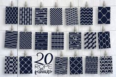 20 Rope Patterns by Anastasiia Macaluso on @creativemarket