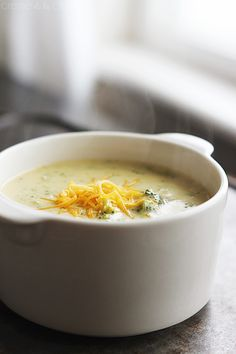 Panera Bread Cheddar Broccoli Soup {Copycat} - Creme De La Crumb