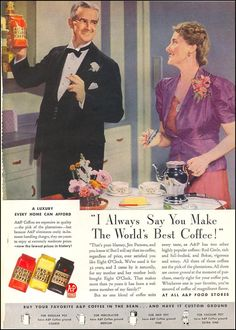 A nostalgic look back at chain stores and other everyday places from the past Retro Ads, Vintage Advertisements, Vintage Ads, Vintage Food, Old Country Stores, In Another Life, Tea Companies, Old Ads, Print Advertising