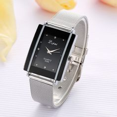 Cheap feminino, Buy Quality feminino relogio Directly from China Suppliers:Fashion Women's watches Stainless steel Silver color Quartz watch Clock Ladies Dress Gift Watches relogio feminino Modern Watches, Elegant Watches, Casual Watches, Cheap Watches, Women's Watches, Dress Watches, Stainless Steel Bracelet, Fashion Watches, Luxury Branding