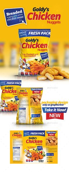 Chicken Nuggets Packaging Template