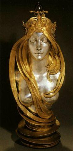 Artemis Dreaming, Nature, 1899-1900 Alfons Mucha