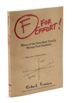 F For Effort! by Chronicle Books - Multi, Scholastic/Collegiate