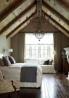 Pitched ceiling simple design -Houzz
