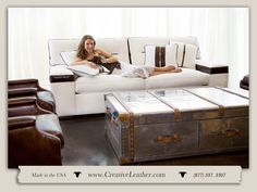 For three decades, Creative Leather has been committed to handcrafting the finest quality custom leather furniture in the Southwest. Transitional Bathroom, Transitional Decor, Leather Furniture, Custom Furniture, Beautiful Lines, Custom Leather, Chair And Ottoman, Monaco, Bathroom Lighting