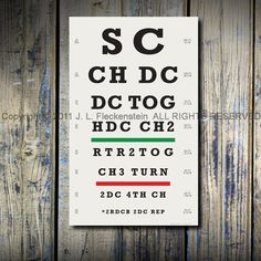 Haha. It's a Crocheter's Eye Chart