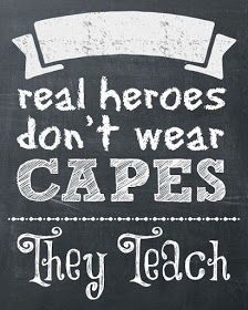 Teacher Appreciation Super Hero Themed Week