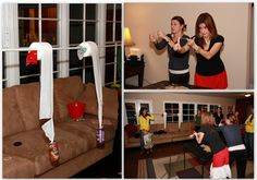 This site has really hilarious game ideas for adults and kids.  Minute to Win It Birthday party