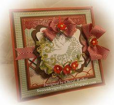 Cheryl Walker: Sweeet Designs by Cherl for CottageBLOG: CottageCutz Ornament Dove Card - 12/30/14.  (Dies: Ornament-Dove; Red Bird Wreath).  (Pin#1: Dies: Cottage Cutz.  Pin+: Christmas: Ornaments).