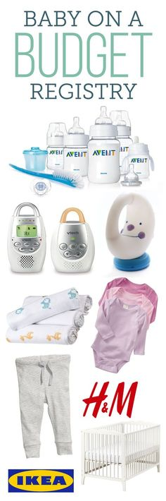 """""""Trust me, you don't have to spend a ton of money to get ready for your first baby. When Lucie was born, we were unemployed and living week to week on a dwindling savings account. There are tons of great budget items out there, and here's a complete registry of our faves. You can use BabyList to add anything (from any store) to one registry."""" ~ Meg at Lucie's List"""