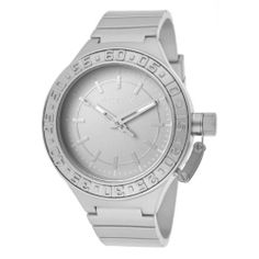 Activa By Invicta Unisex AA300-019 Silver Tone Dial Silver Tone Polyurethane Watch Activa By Invicta. $39.60. Silver tone second hand. Silver tone dial with silver tone hands and hour markers; luminous; secured screw-down cap on crown. Swiss quartz movement. Water-resistant to 50 M (165 feet). Mineral crystal; silver tone metal case with stainless steel back; silver tone polyurethane strap. Save 60% Off!