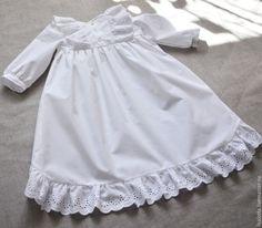 Купить Крестильное платье Анна - белый, крестильное платье, крестильное, платье для девочки, Платье нарядное