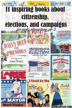 Election and voting themed book list for elementary, kindergarten, and…