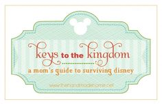 a moms guide to Disney (Wish I had this back in November)