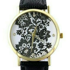 **Host Pick 1/18/16**Black lace design watch New black watch with lace design on the face. Jewelry
