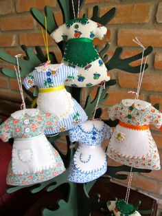 Sunday Best Apron Ornaments or Pin Cushions - Inspired by the movie  - The Help - Choose 2 for 18.00  Inspiration