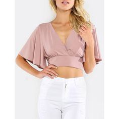 Shop a great selection of Milumia Women's Sexy Deep V Neck Cross Wrap Slim Fit Crop Tops. Find new offer and Similar products for Milumia Women's Sexy Deep V Neck Cross Wrap Slim Fit Crop Tops. Cropped Tops, Style Casual, Knit Fashion, Women's Fashion, Mode Inspiration, Look Cool, Slim Fit, V Neck Tops, Blouse Designs