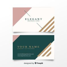 Elegant bussines card template Free Vector