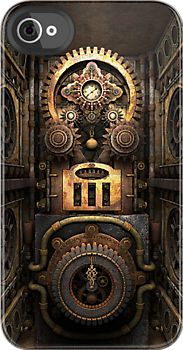 Infernal Steampunk Machine: iPhone case