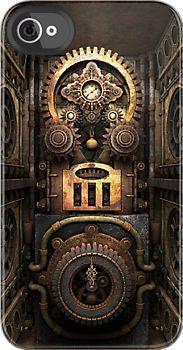 Infernal Steampunk Machine: iPhone case