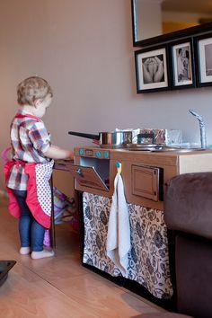 Cardboard Play Kitchen diy #philandteds #makedo