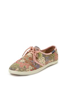 Derby Print Lace-Up