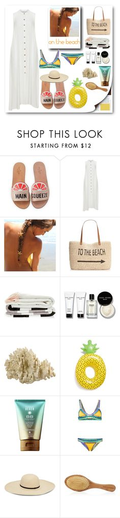 """""""beach time"""" by myenglishmood ❤ liked on Polyvore featuring Kate Spade, Mat, Style & Co., Bobbi Brown Cosmetics, Big Mouth and kiini"""