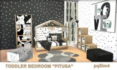 PQSims4: Toddler Bedroom Pitusa