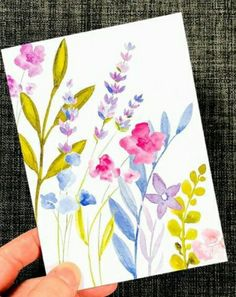 Watercolor Paintings For Beginners, Watercolor Ideas, Watercolor Cards, Fabric Painting On Clothes, Painted Clothes, Origami Shirt, Make Your Own Card, Paint Cards, Mini Paintings