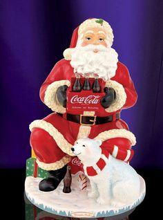 Coca Cola Santa Christmas Cookie Jar