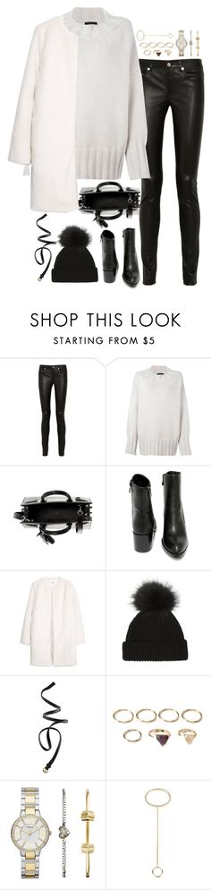 """""""Untitled#4232"""" by fashionnfacts ❤ liked on Polyvore featuring Yves Saint Laurent, The Row, Very Volatile, MANGO, H&M, Forever 21, FOSSIL and Chloé"""