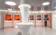 We are a global and creative design studio in Geneva, Tokyo and Beijing. Orange Sofa, Retail Experience, Retail Interior, Retail Space, Retail Design, Geneva, Creative Design, Waves, Interior Design