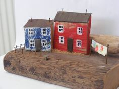 TONNAU hand made driftwood house made in North by nauticalwelsh