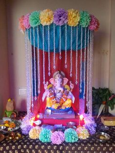 100 home ganpati decorations ideas pictures part 2 3 ganpati