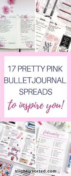 Love these ideas for gorgeous pink bullet journal spreads! Number 7 has to be my favorite - it's stunning - but I really love them all. Perfect for February bullet journal spreads with a Valentine's theme, but I love pink for all year round too!