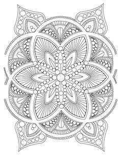 mandala fleur mandala mandalas coloriage   ausmalbilder, stickereimuster, malvorlagen blumen